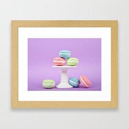 Macaron Sweet Treats Framed Art Print