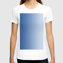 Blue to Pastel Blue Vertical Linear Gradient T-shirt