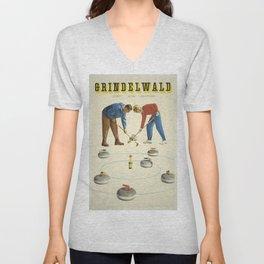 Vintage poster - Grindelwald Unisex V-Neck