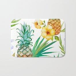 tropical pineapple Bath Mat