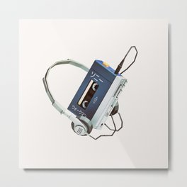 Lo-Fi goes 3D - Walkman Metal Print