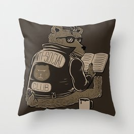 Anti Social Club Throw Pillow