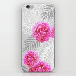 Mandalas and peonies n.1 iPhone Skin