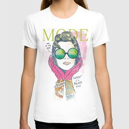 Hipster lady T-shirt