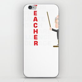 Mentor inspire educate coach share influence iPhone Skin