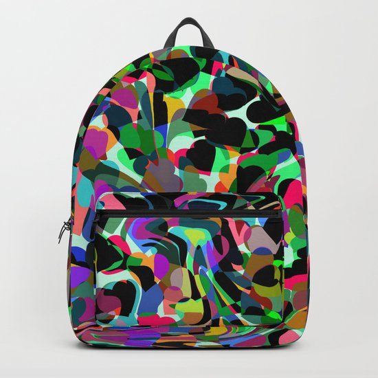 Abstract dance of hearts Backpack