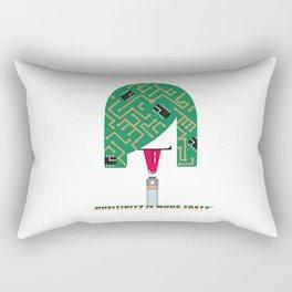 Digital Girl : Positivity is more tasty Rectangular Pillow