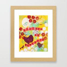 Believe in Yourself Inspiring Art Framed Art Print