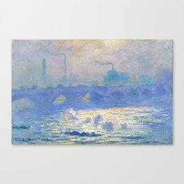 "Claude Monet ""Waterloo Bridge"" Canvas Print"