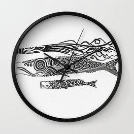 Koinobori Wall Clock