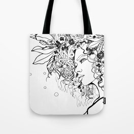 With Flowers in Her Hair No. 5 Tote Bag