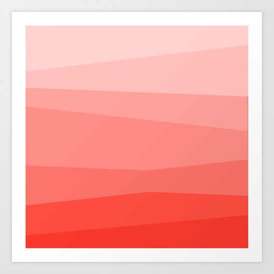 Diagonal Living Coral Gradient by abstractcolor