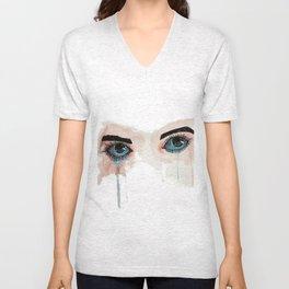 Painted eyes Unisex V-Neck