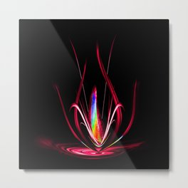 Flowermagic - Light and energy Metal Print