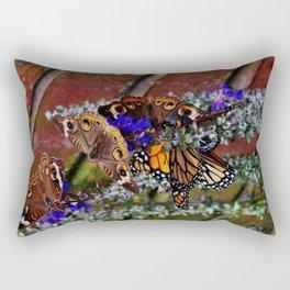 Multiple Butterflies Rectangular Pillow