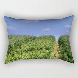 Wheat Field Bridleway Rectangular Pillow