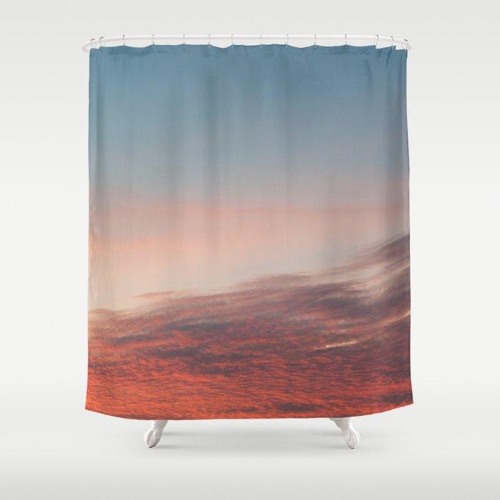 Dappled Peach Skies Shower Curtain