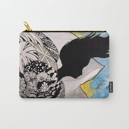 Woman in the Mountains Carry-All Pouch
