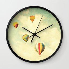 Drifting Balloons Wall Clock