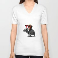 napoleon V-neck T-shirts featuring Napoleon by Inept