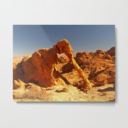 Elephant Rock in the Valley of Fire. Metal Print