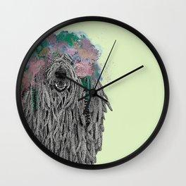 Dredlock Dog (Pastel Green Edition) Wall Clock