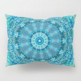 Big Blue Swirl - Abstract Kaleidoscope Art Pillow Sham