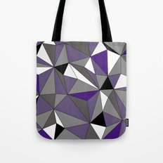 Geo - purple, gray, black and white Tote Bag
