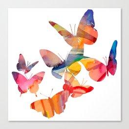 Orange Butterflies Canvas Print