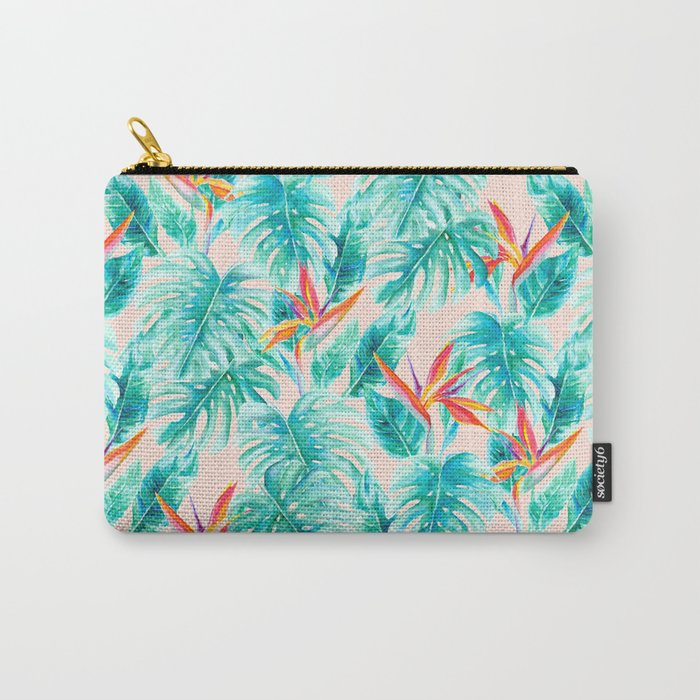 Tropical Paradise Pale Peach Carry-All Pouch