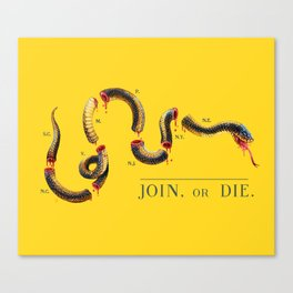 Join, or Die. Canvas Print