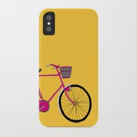 bicycle iPhone & iPod Cases featuring Bicycle  by bluebutton studio