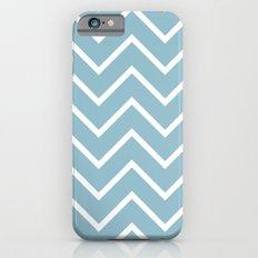 Sky Blue and White Chevron iPhone 6s Slim Case