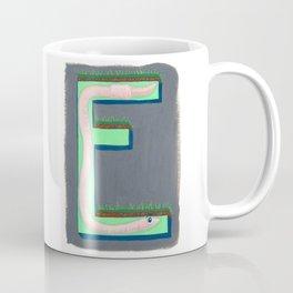 E is for Earthworm Letter Alphabet Decor Design Art Pattern Coffee Mug
