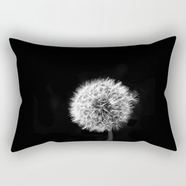 Black and White Dandelion Rectangular Pillow