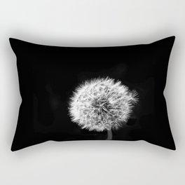 Black and White Dandelion Rectangular Pillow