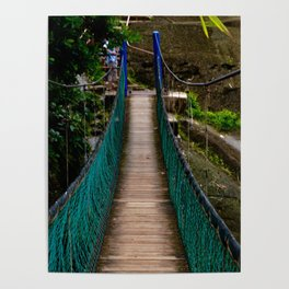 Swinging Bridge -Guam Poster