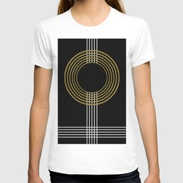 GUITAR IN ABSTRACT (geometric art deco) T-shirt
