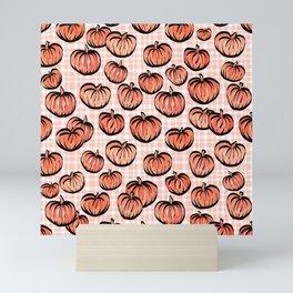 Pumpkin Patch Plaid Mini Art Print