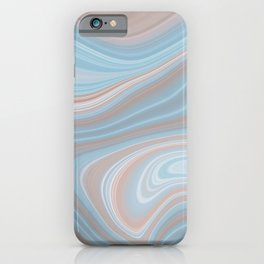 AGATE gem with abstract beach waves #nature iPhone Case