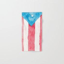 Puerto Rico Watercolour Hand & Bath Towel