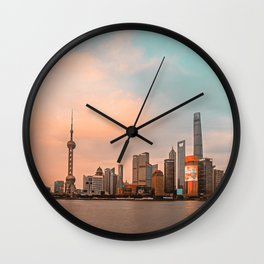Shanghai City Skyline | China Wall Clock