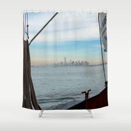 Staten Island Ferry Barberi Shower Curtain