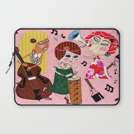 The Jazzy Jezebels, pink Laptop Sleeve