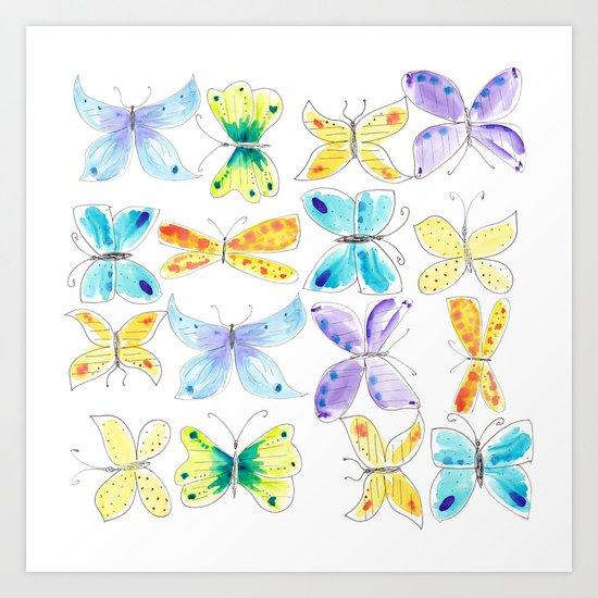 Breezy Butterflies Art Print