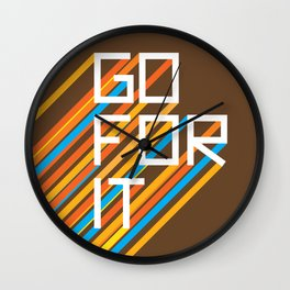 70s Go For It Wall Clock