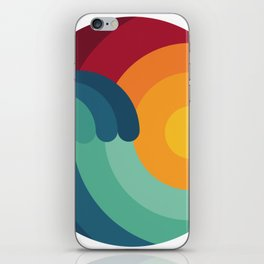 Surfer Ocean Surfing Wave Kitesurfing Sunset Wakeboard Diver Gift iPhone Skin