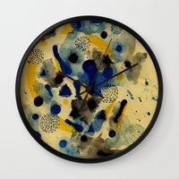 chemistry Wall Clocks featuring Floating Chemistry by Marcelo Romero