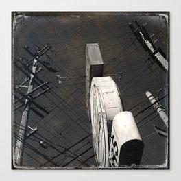 The Wizz take 2, Black and White San Francisco Canvas Print