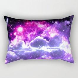 Galaxy Clouds Fuchsia Pink Purple Rectangular Pillow